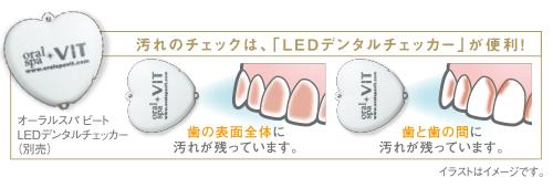 汚れのチェックには「LEDデンタルチェッカー」が便利!